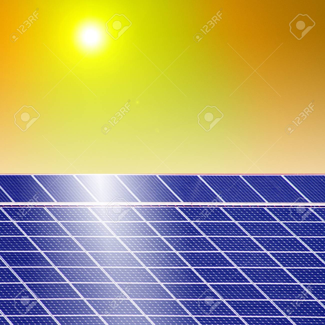 solar panels to generate electricity Stock Photo - 12587001