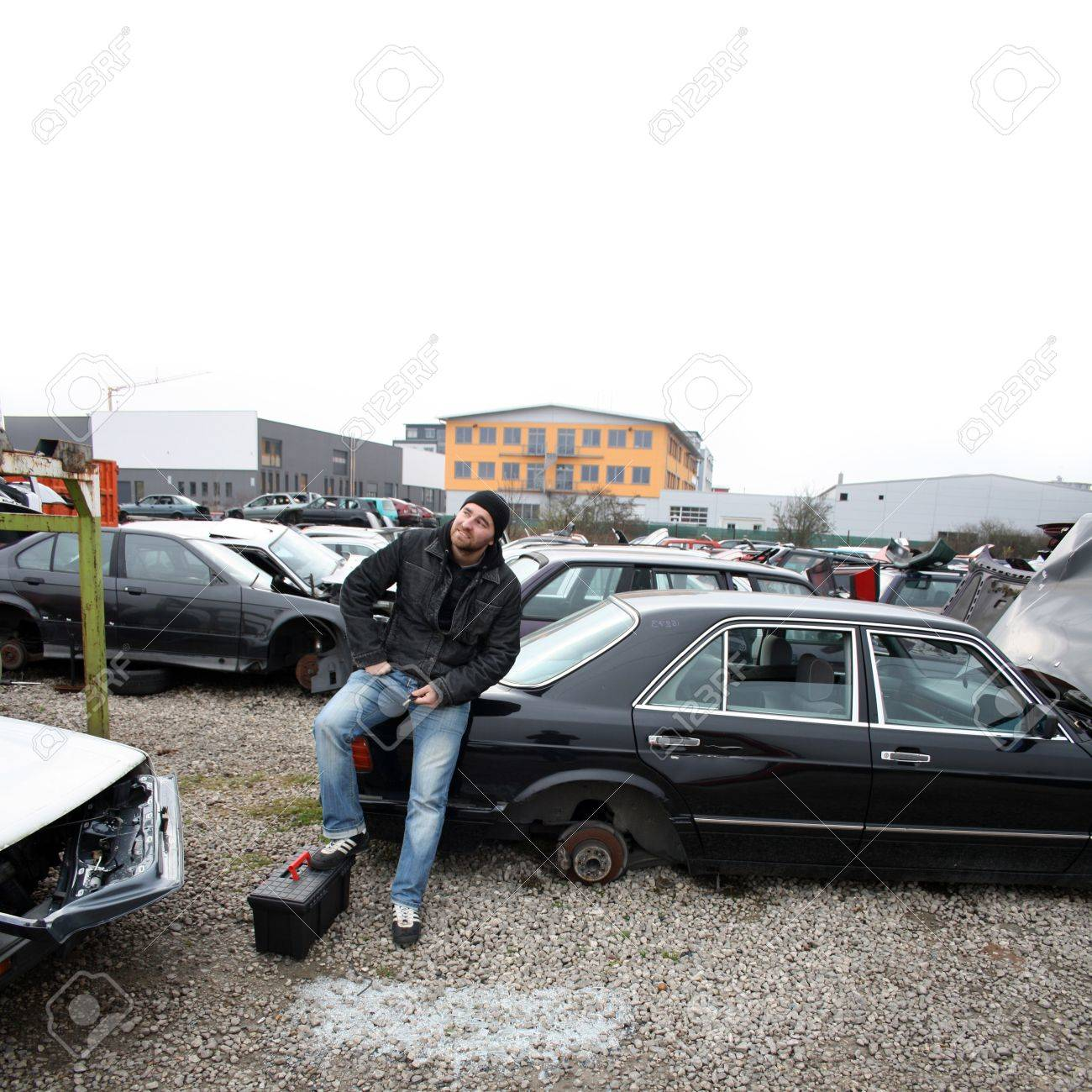 Scrap Yard For Car Recycling Stock Photo, Picture And Royalty Free ...
