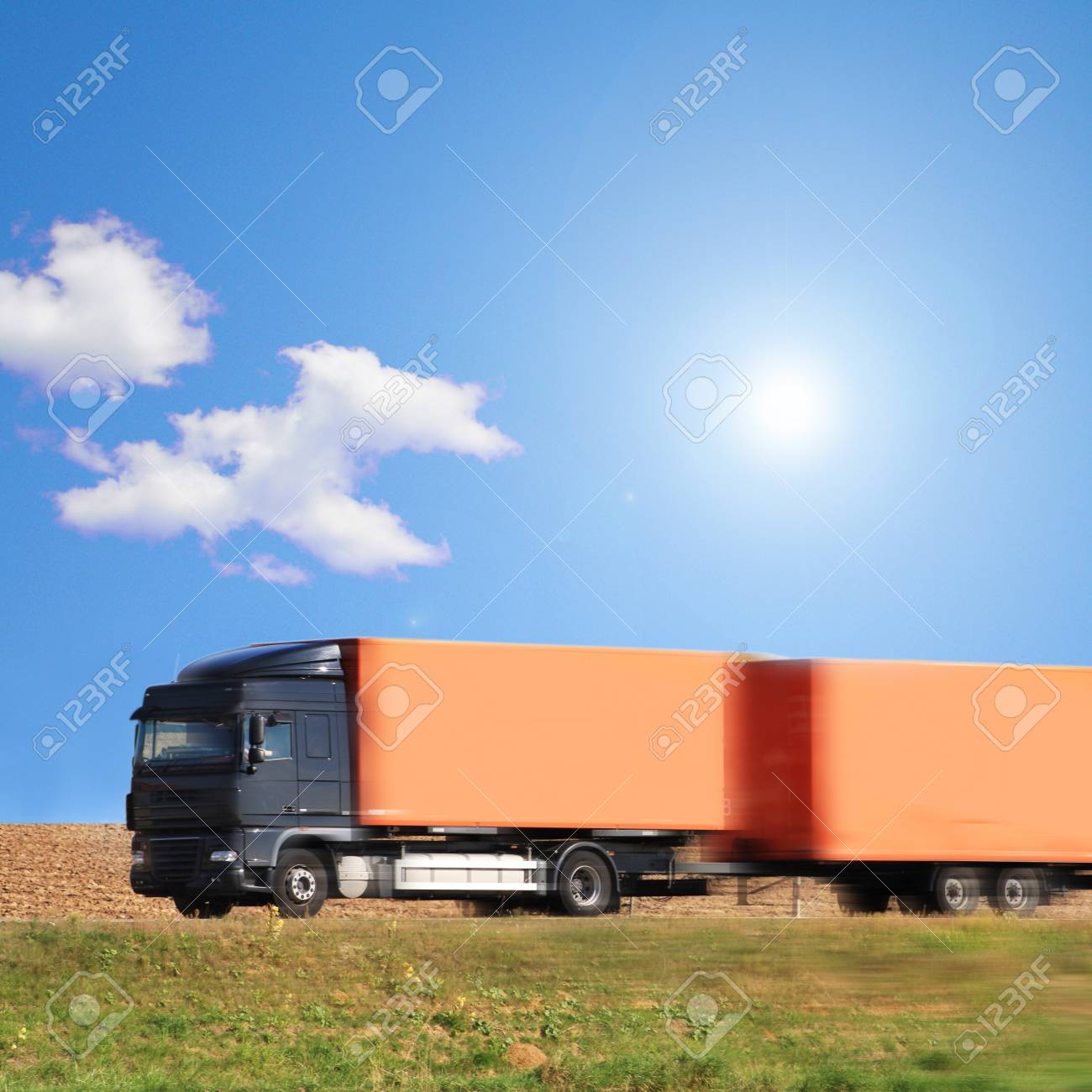 truck on the road of Germany Stock Photo - 13048562