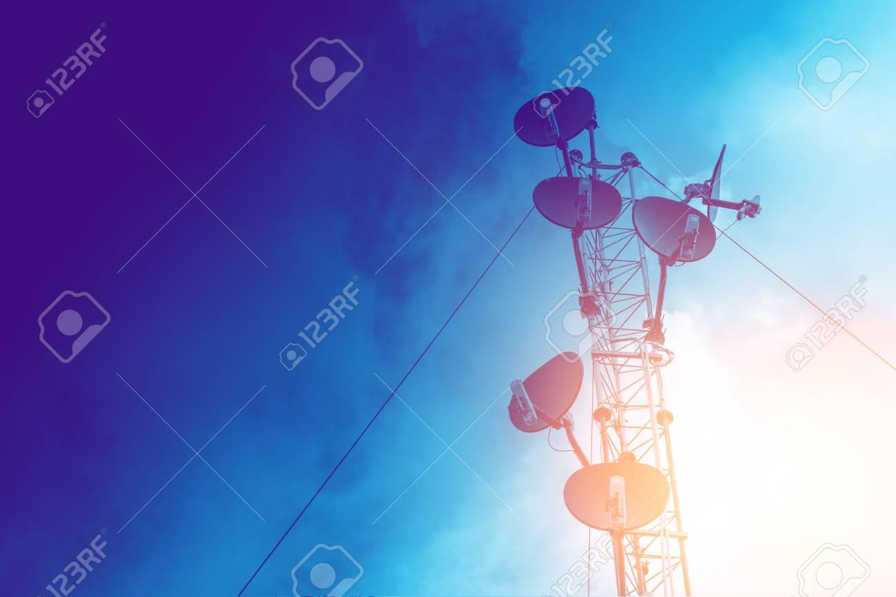 communication tower, high power wifi antenna post hotspot long
