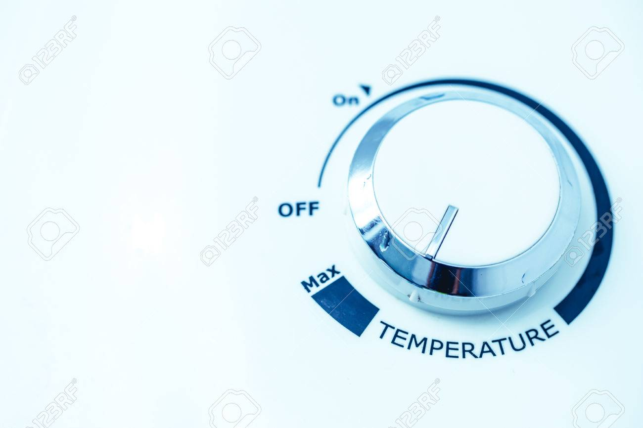 How To Adjust Temperature On Water Heater Ionizer Turn Up A Stock Photo Volume At Shower Bathroom