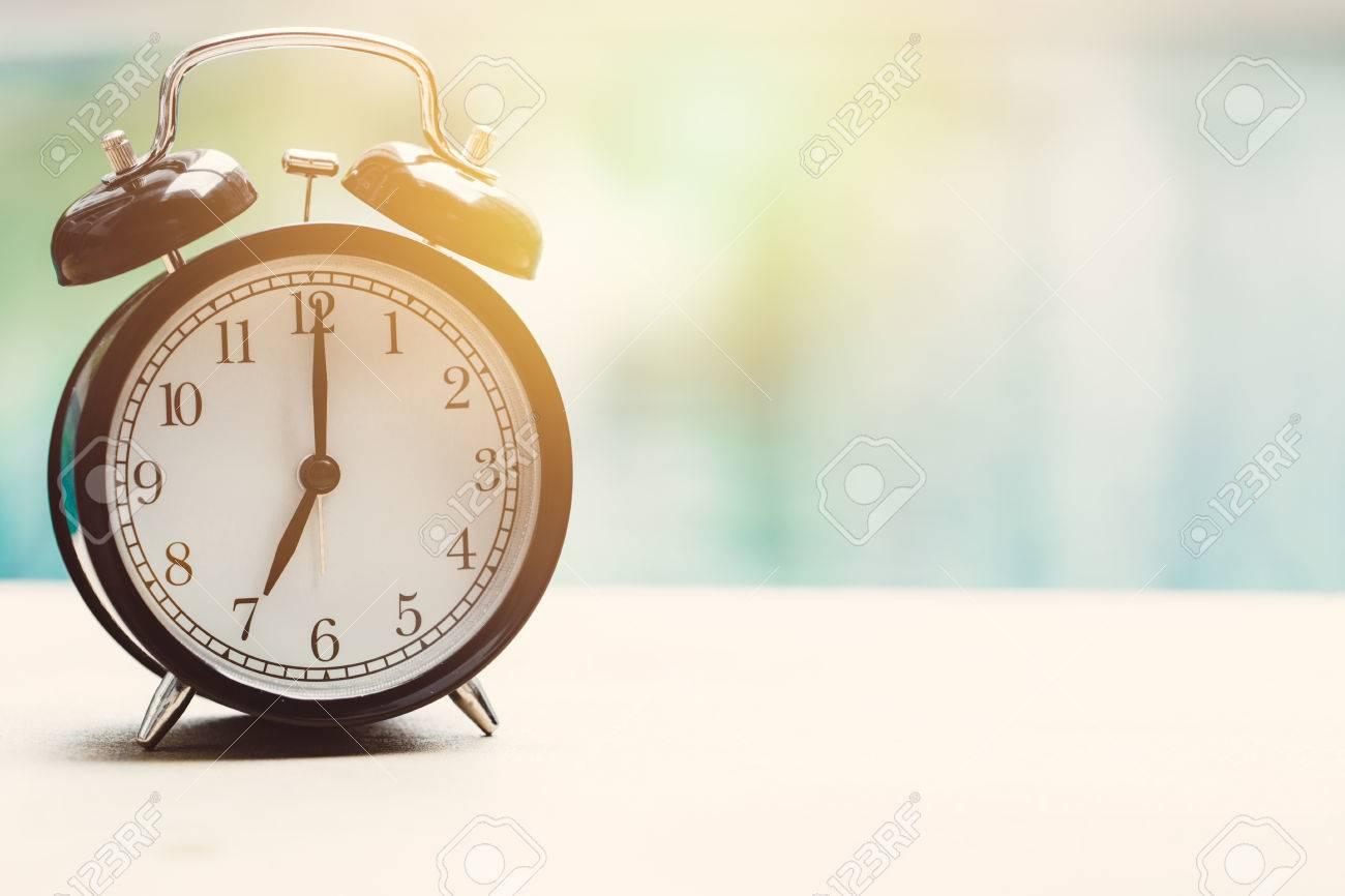 Outdoor Swimming Pool Clocks.7 O Clock Retro Clock At The Swimming Pool Outdoor Relax Time