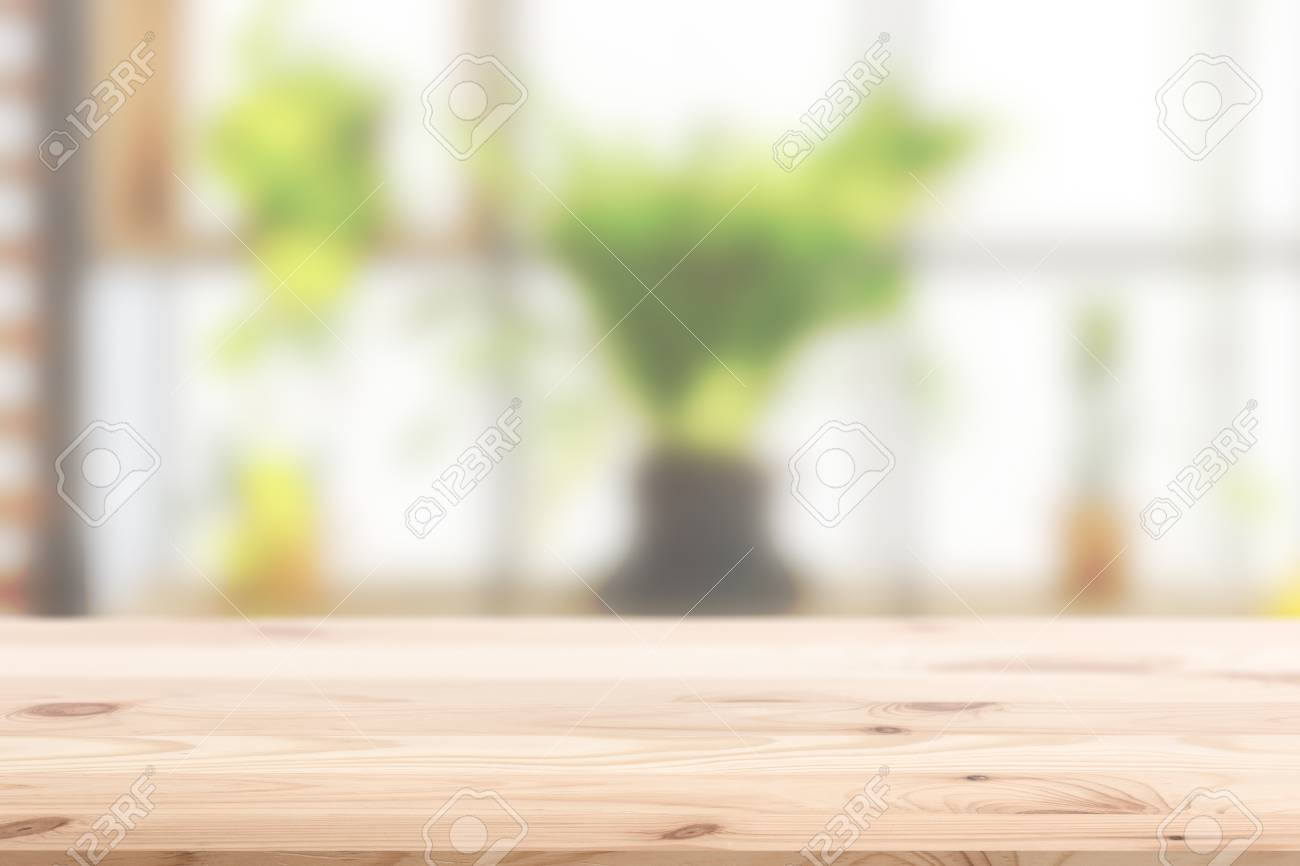 Wood Foreground With Blur Interior Green Plant At Home Concept Stock Photo Picture And Royalty Free Image Image 86180070