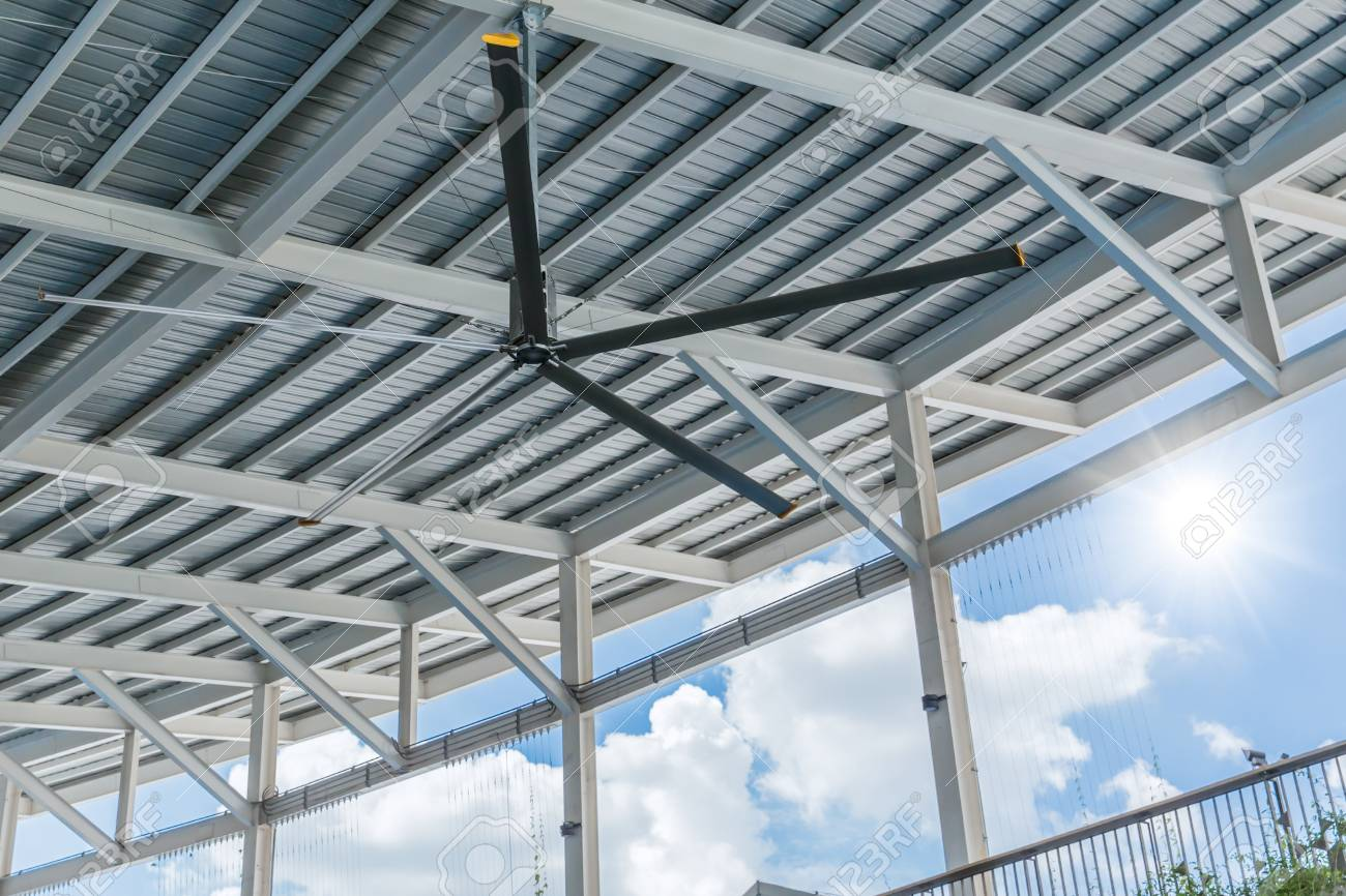 Commercial Hvls Ceiling Fan Big Industrial Fans At Roof For Hot Stock Photo Picture And Royalty Free Image Image 94118642