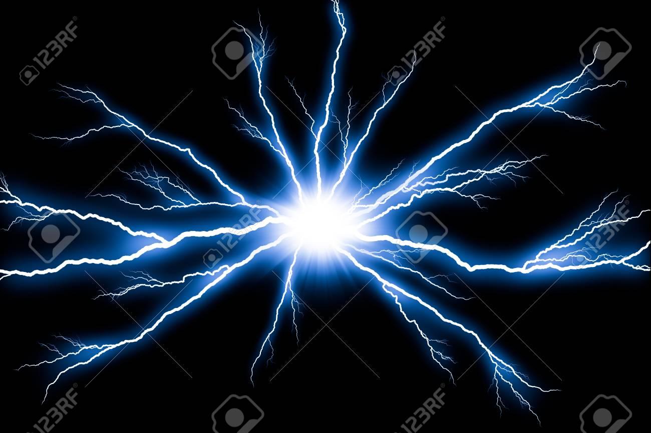 Electricity Lightning Flash Thunder Isolated On Black Background Stock Photo Picture And Royalty Free Image Image 100317465