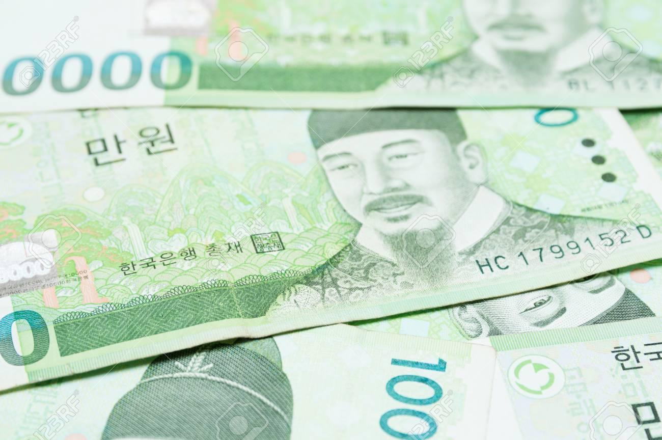 Argent Coréen Banque D Images Et Photos Libres De Droits Image 85434458