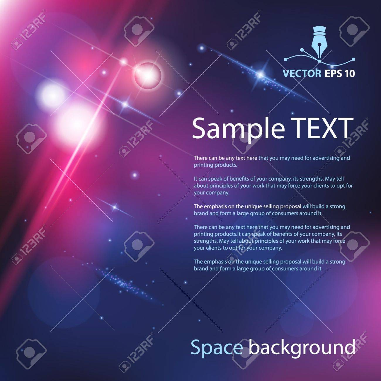 Vector space background for sample text Stock Vector - 13254252