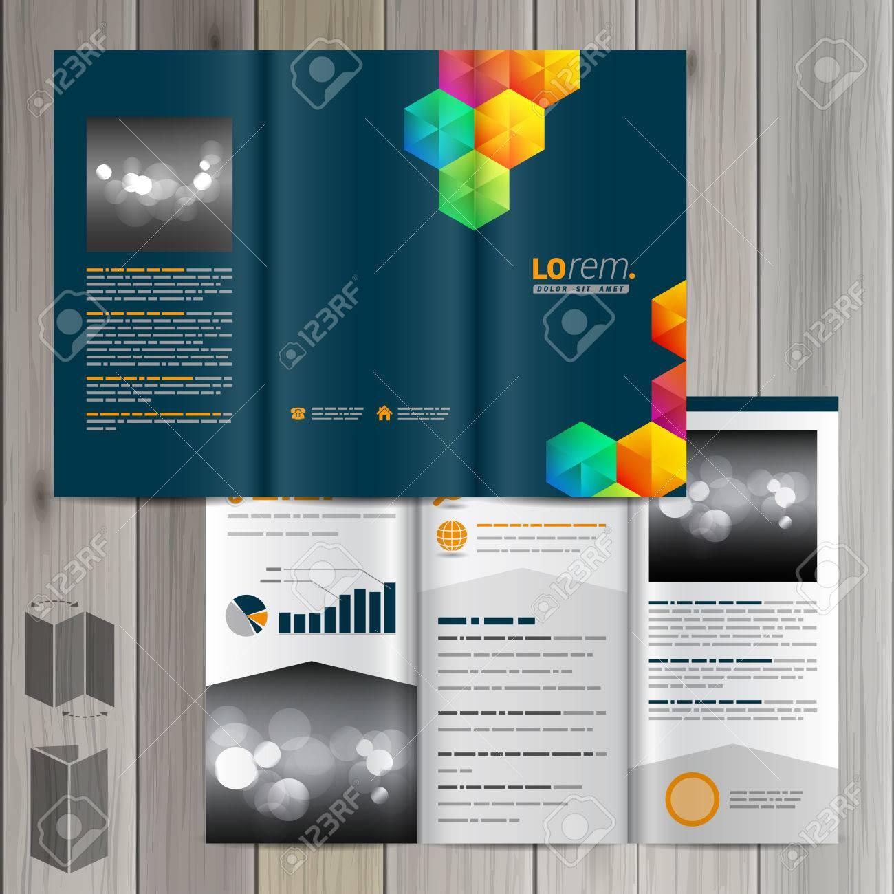 Blue Creative Brochure Template Design With Color Cubes Cover - Free creative brochure templates