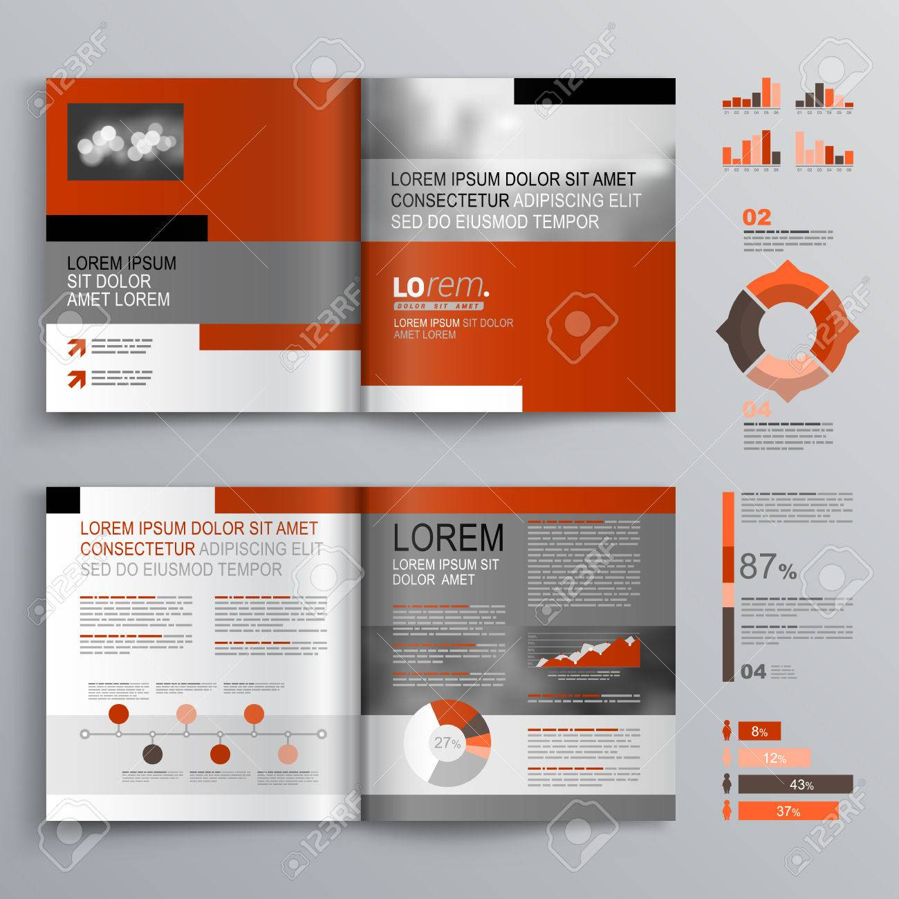 flyer template stock vector illustration and royalty flyer template classic brochure template design gray and red shapes cover layout and