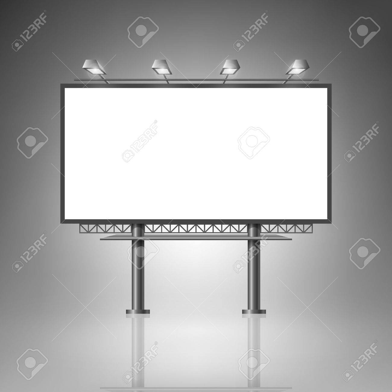 Template For Advertising And Corporate Identity Outdoor Billboard