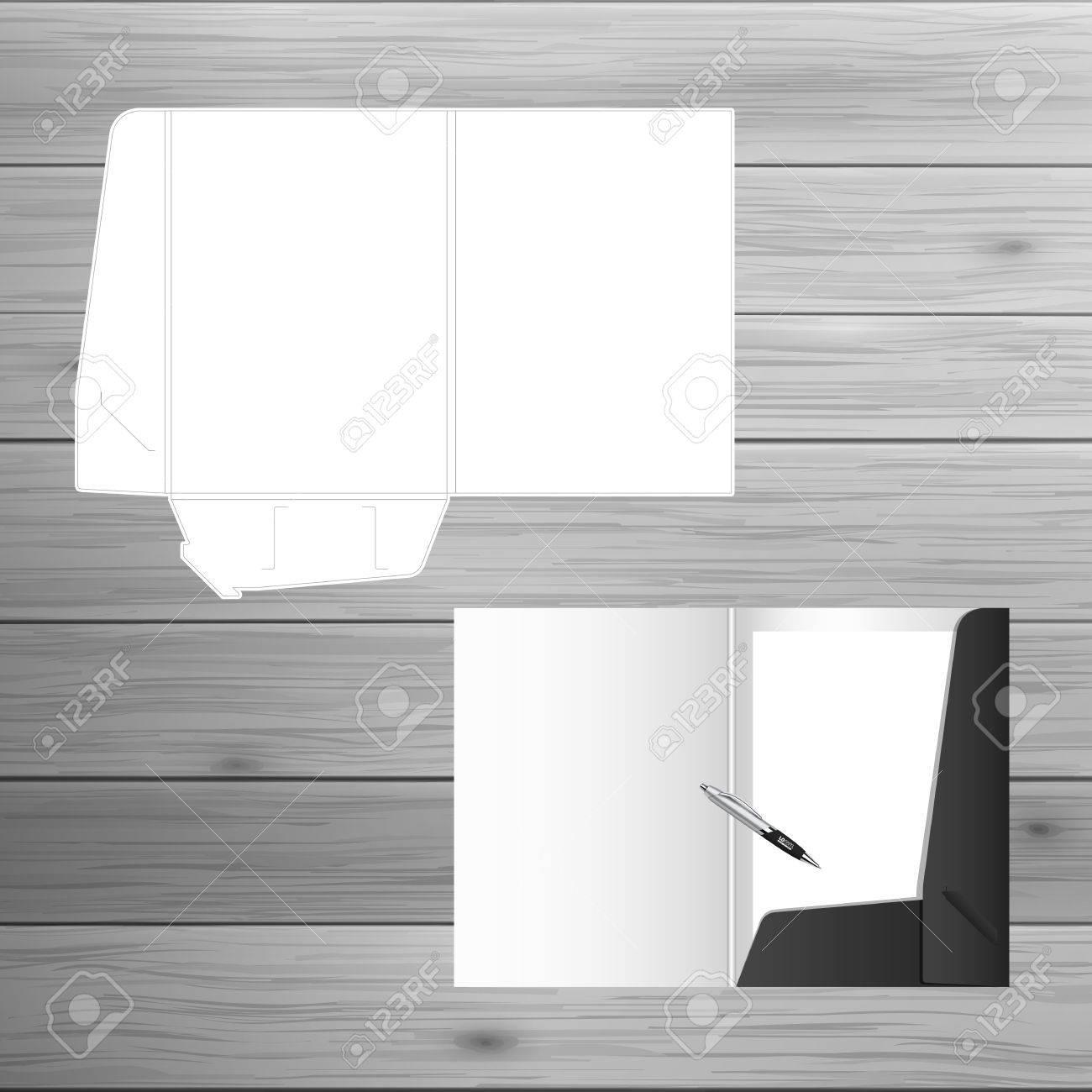 Vorlage Für Werbung Und Corporate Identity. Ordner öffnen. Blank ...