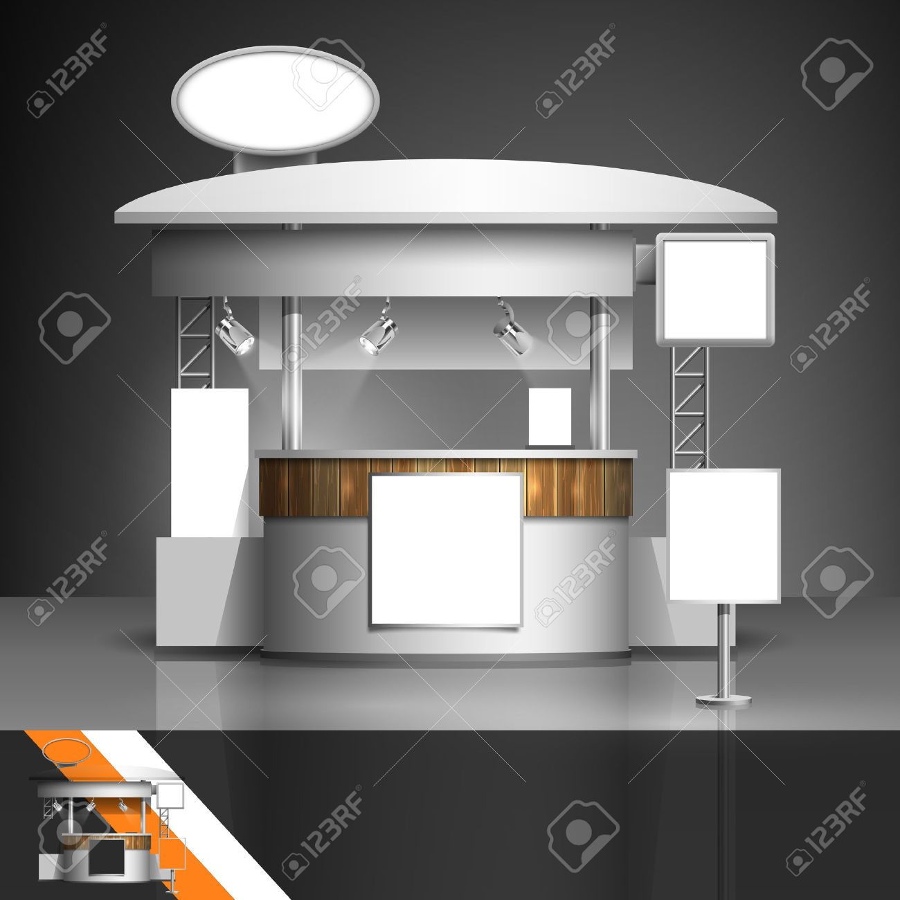 Exhibition Stand Free Vector : Template for advertising and corporate identity. exhibition stand