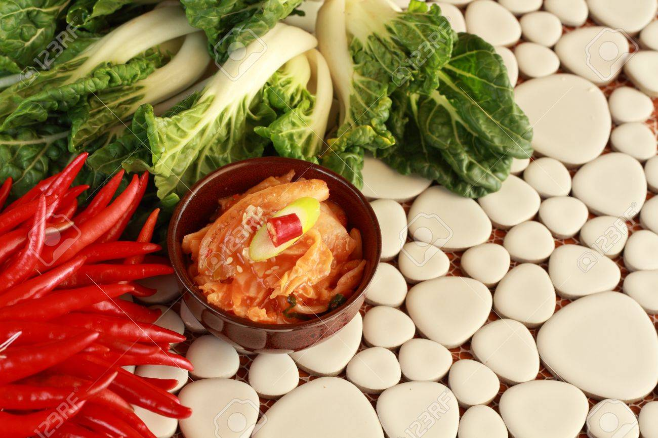 Kimchi and vegetables Standard-Bild - 13506738