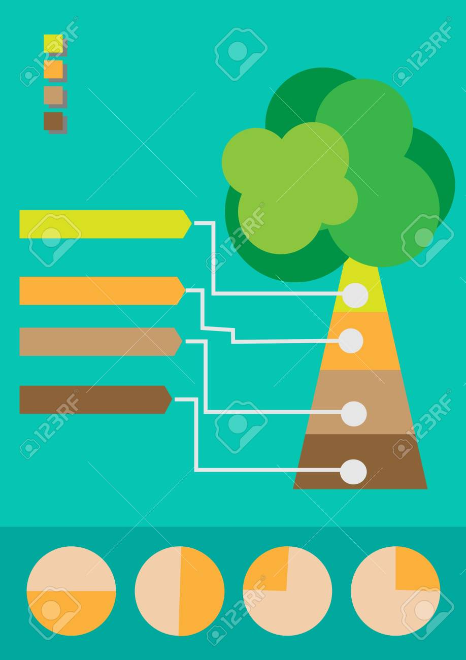 Infographic Tree Stock Vector - 18022838