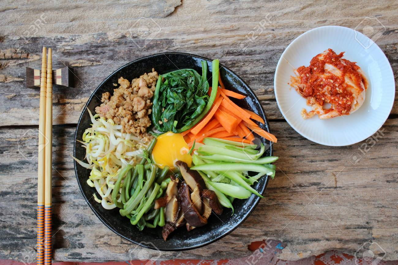 Bibimbap With Kimchi Korean Food Stock Photo Picture And Royalty Free Image Image 51583663