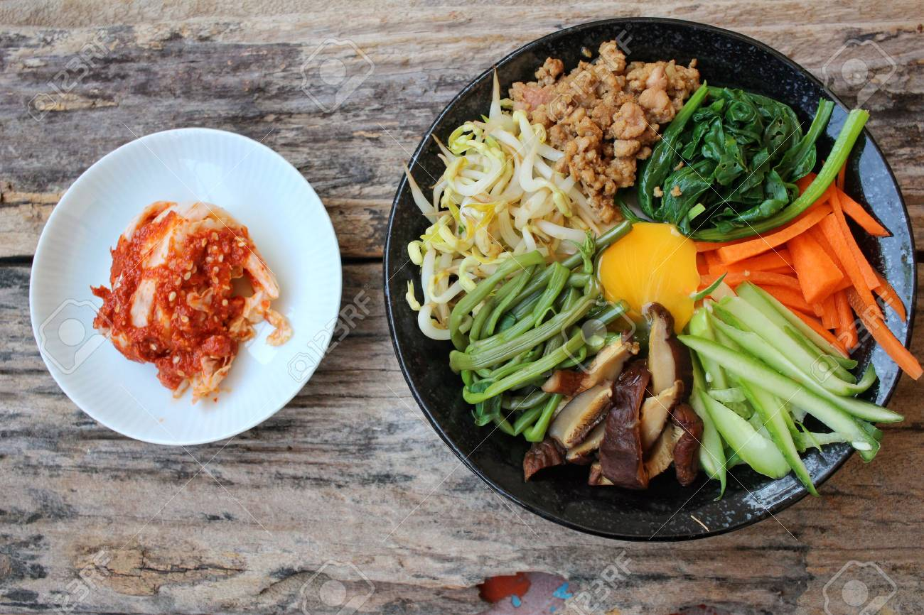 Bibimbap With Kimchi Korean Food Stock Photo Picture And Royalty Free Image Image 51663151