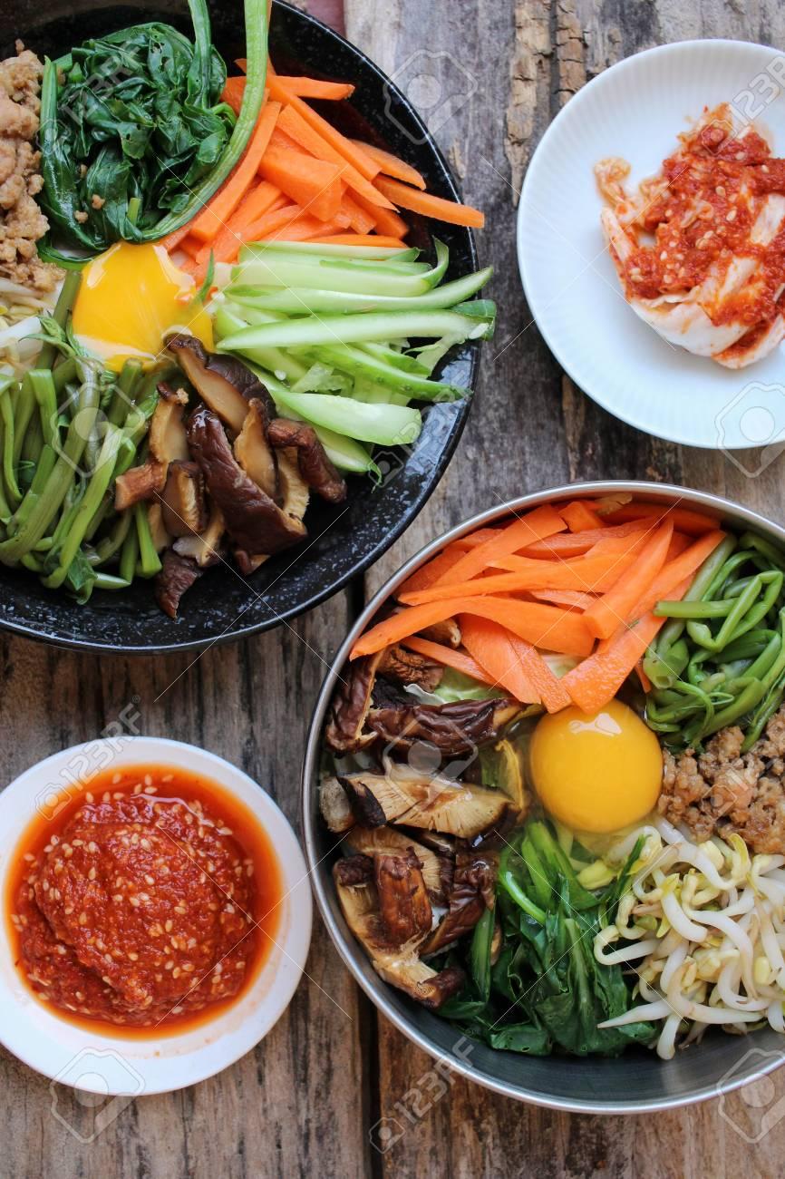 Bibimbap With Kimchi Korean Food Stock Photo Picture And Royalty Free Image Image 51663155