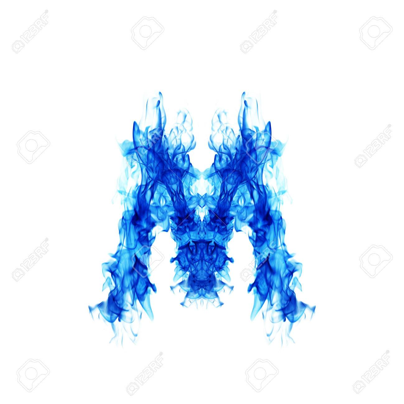 Blue Fire Letter M Stock Photo Picture And Royalty Free Image