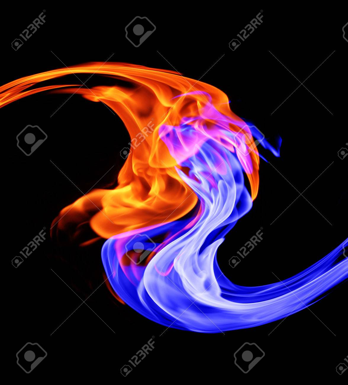 Yin Yang Symbol Ice And Fire Stock Photo Picture And Royalty Free