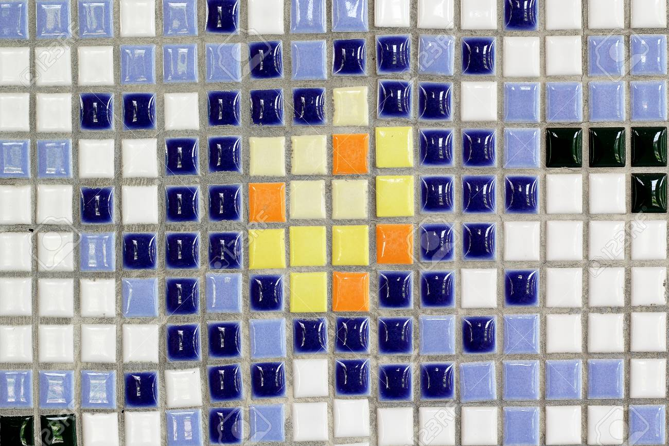 Mosaico senza soluzione di continuità piastrelle di ceramica blu