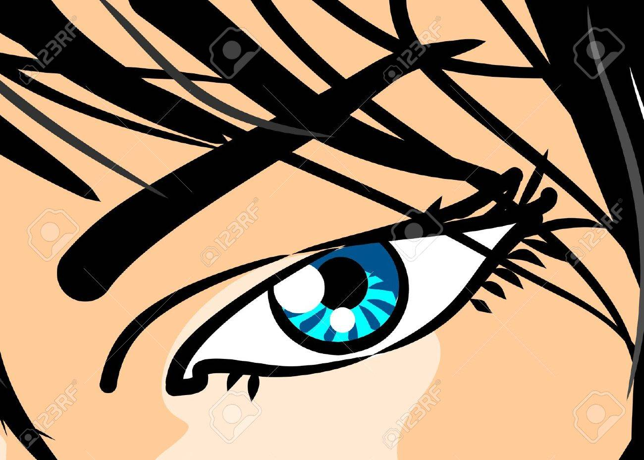 Cartoon Eyes Comic Style