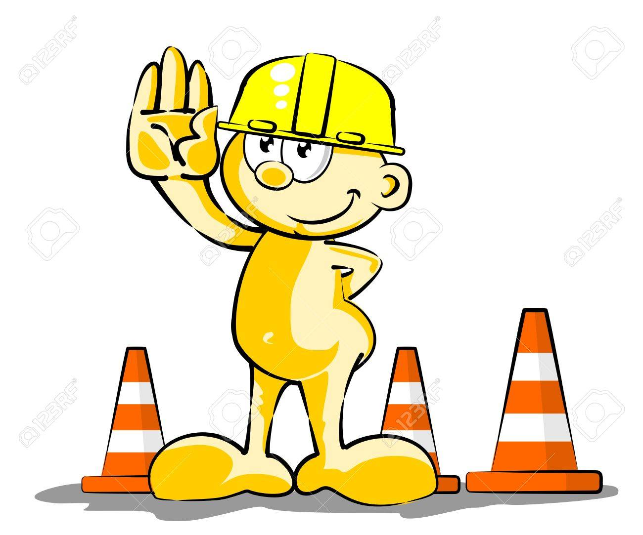 Conceptual illustration, man at a stop pose Stock Vector - 21458018