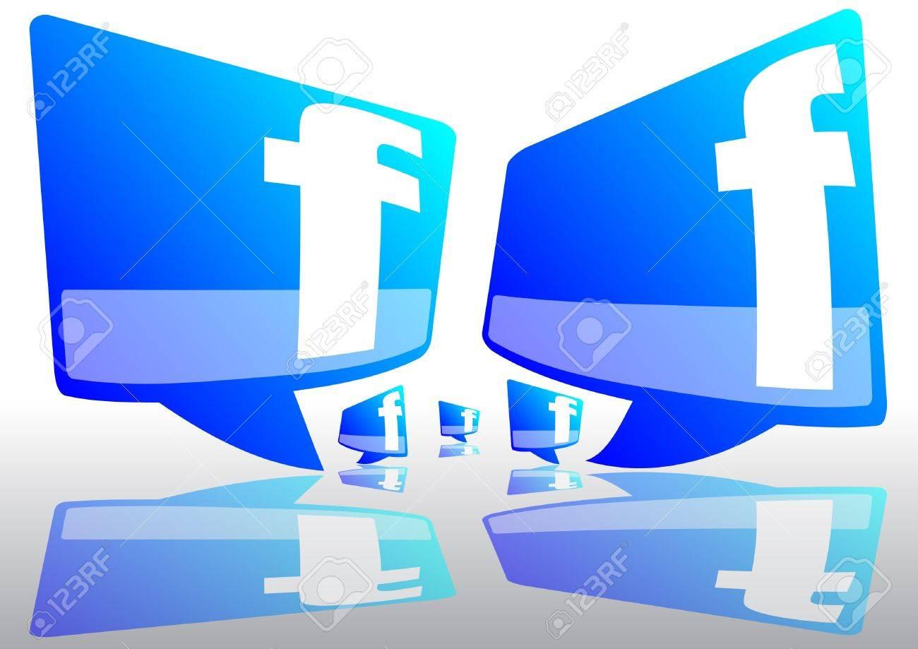 socail  network icon Stock Photo - 14147483