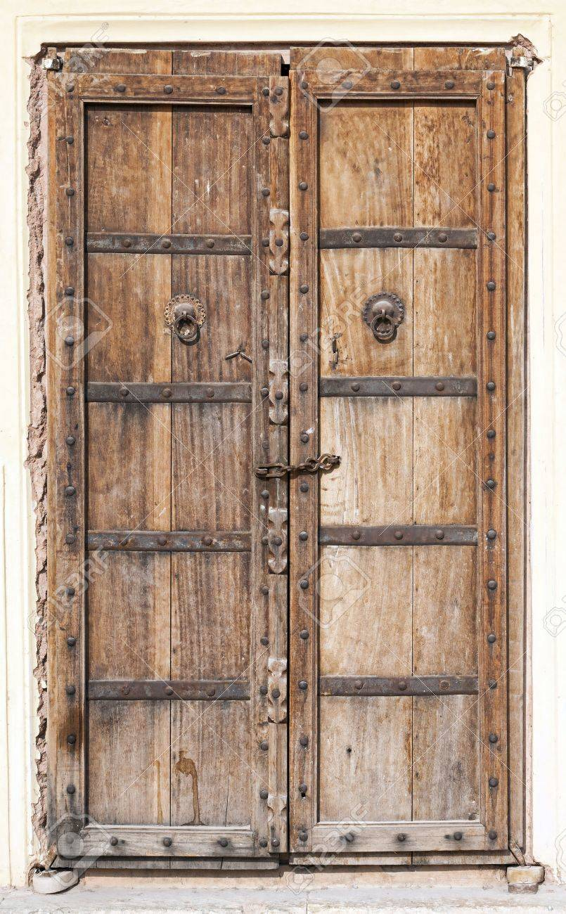 Old Wooden Door Rajasthan India Stock Photo Picture And Royalty
