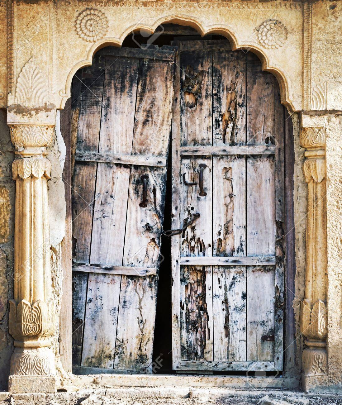 Old wooden door. Rajasthan,India Stock Photo - 17541046
