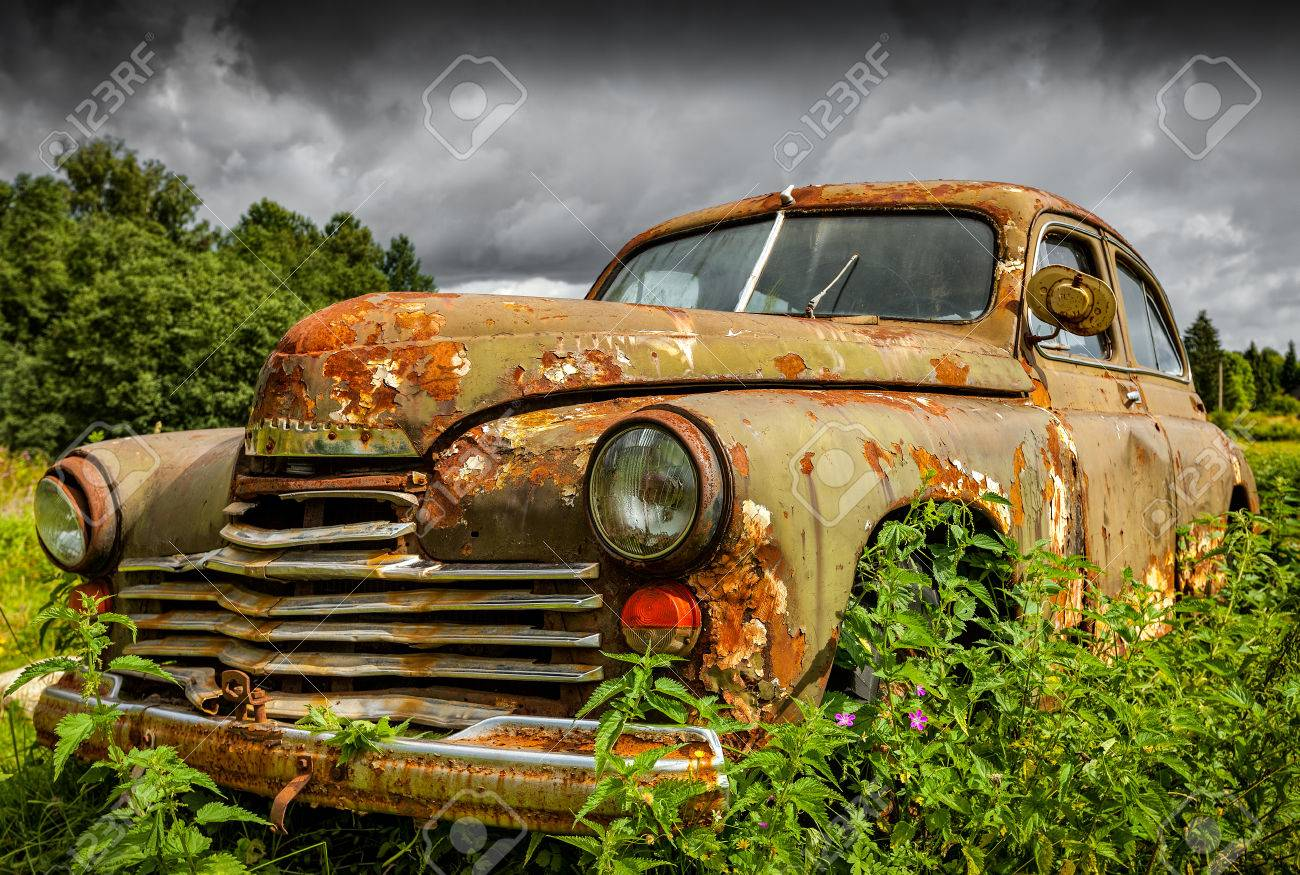 Old Rusty Car Stock Photo, Picture And Royalty Free Image. Image ...