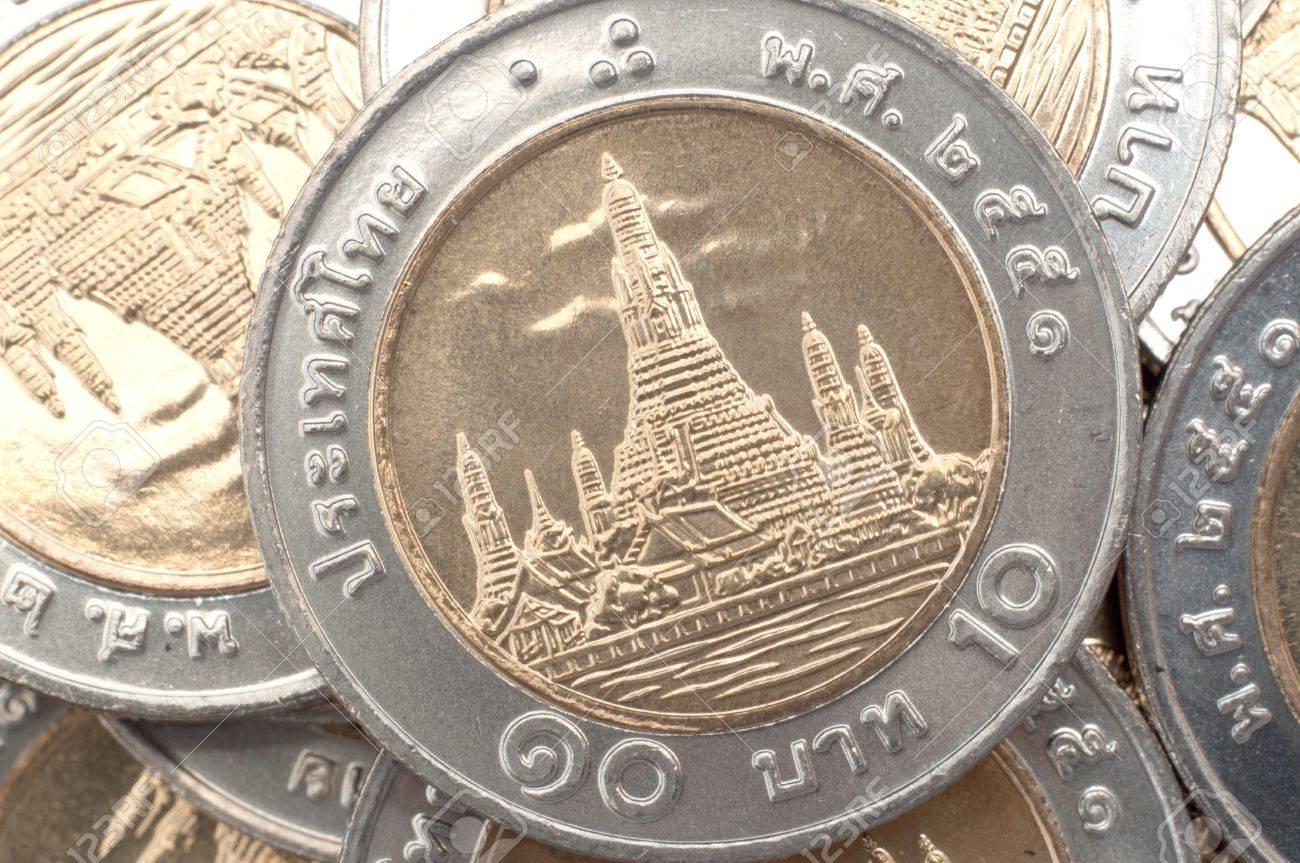 ten Baht coins, Thailand Stock Photo - 10576229
