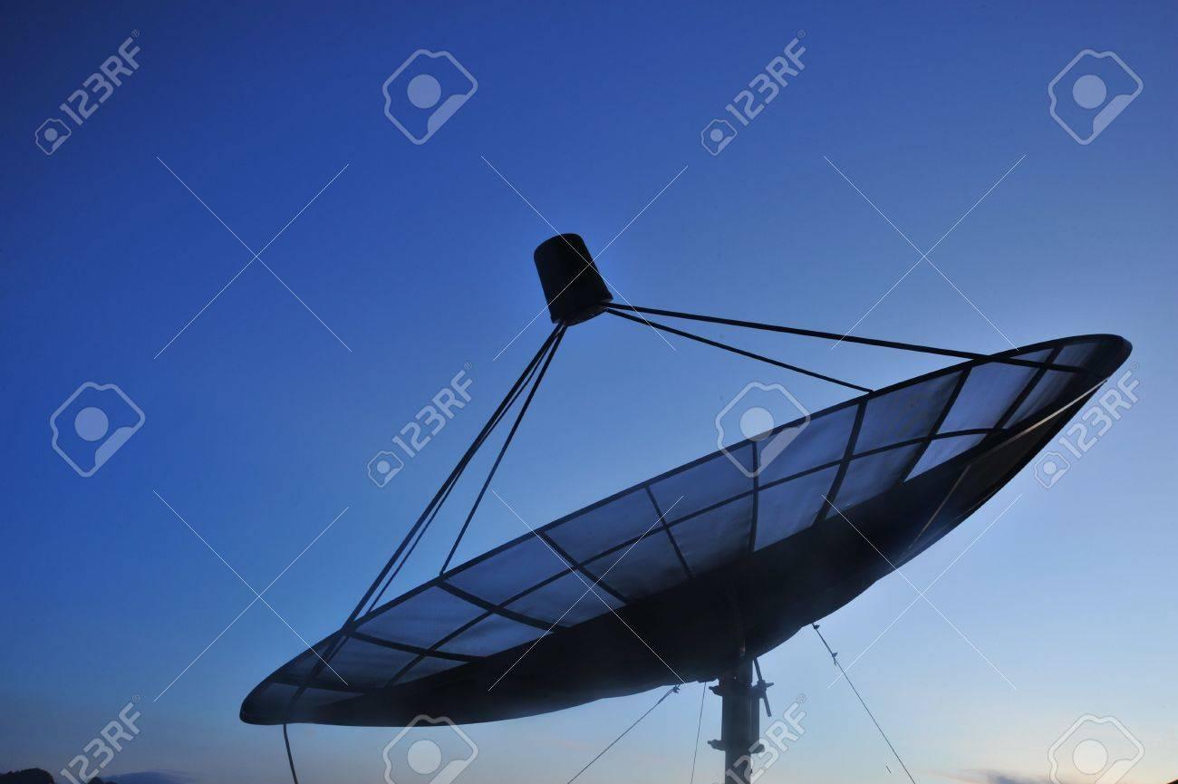 Satellite dish in morning sky Stock Photo - 7028598