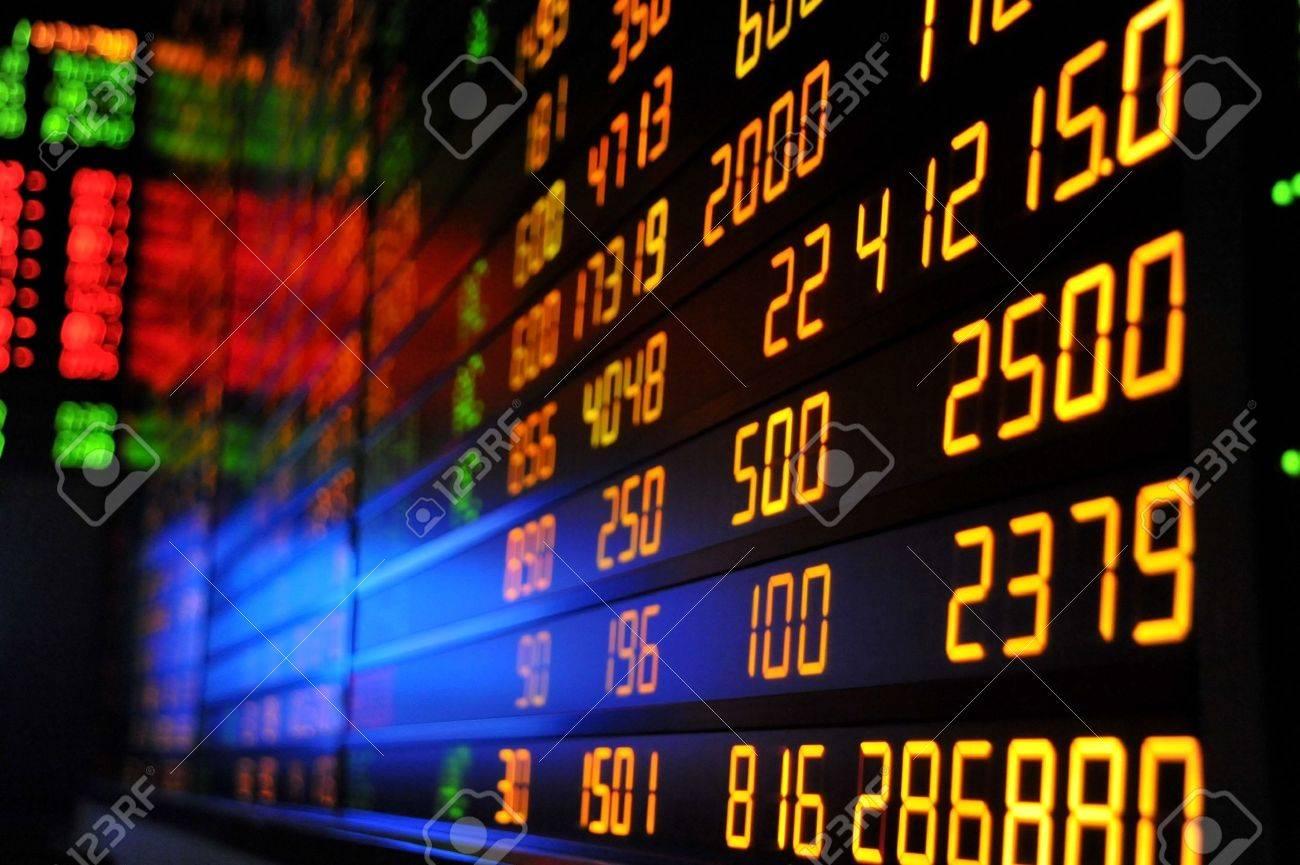 Display of Stock market quotes Stock Photo - 8622629