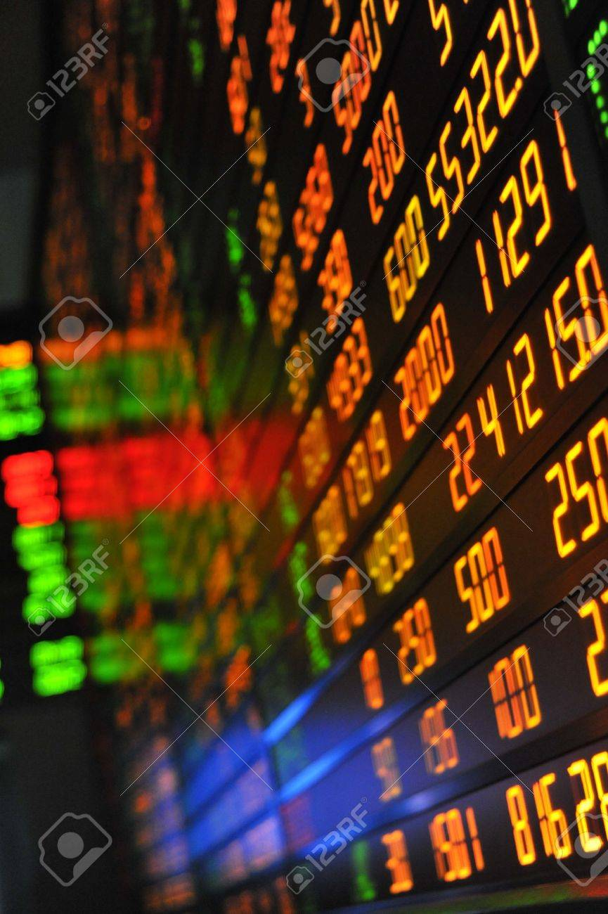 Display of Stock market quotes Stock Photo - 8622630