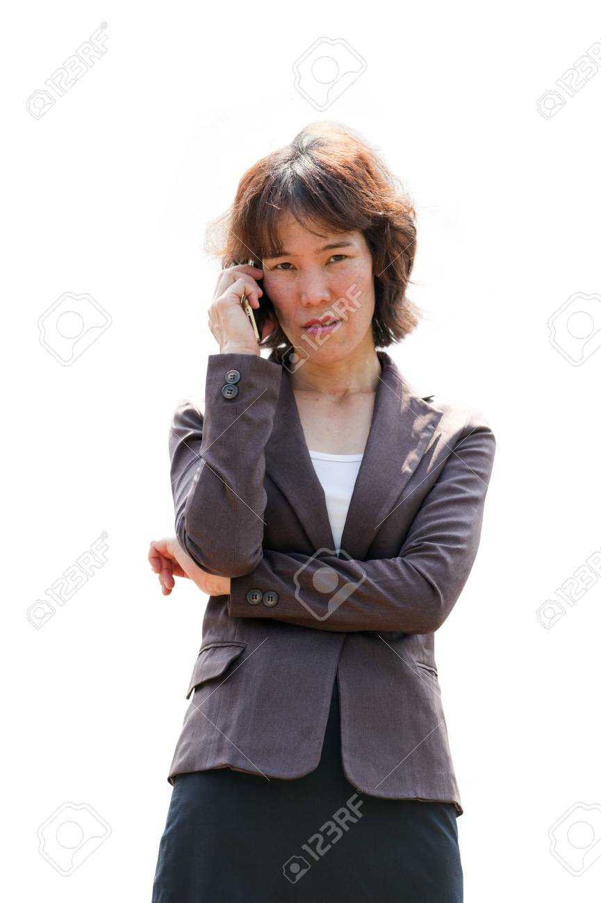 Young businesswoman standing Stock Photo - 9019091