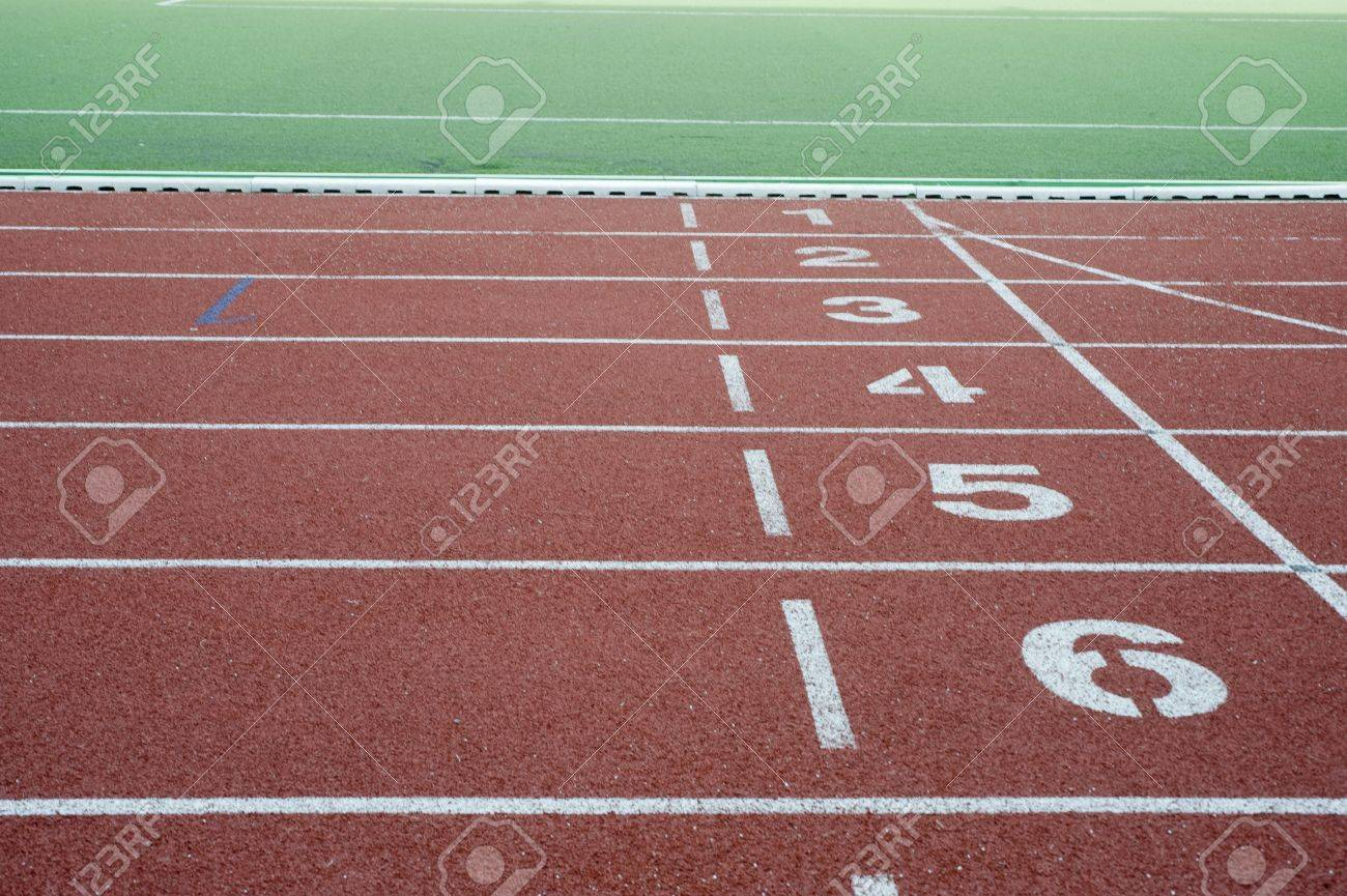 Running track for athletes Stock Photo - 9601577