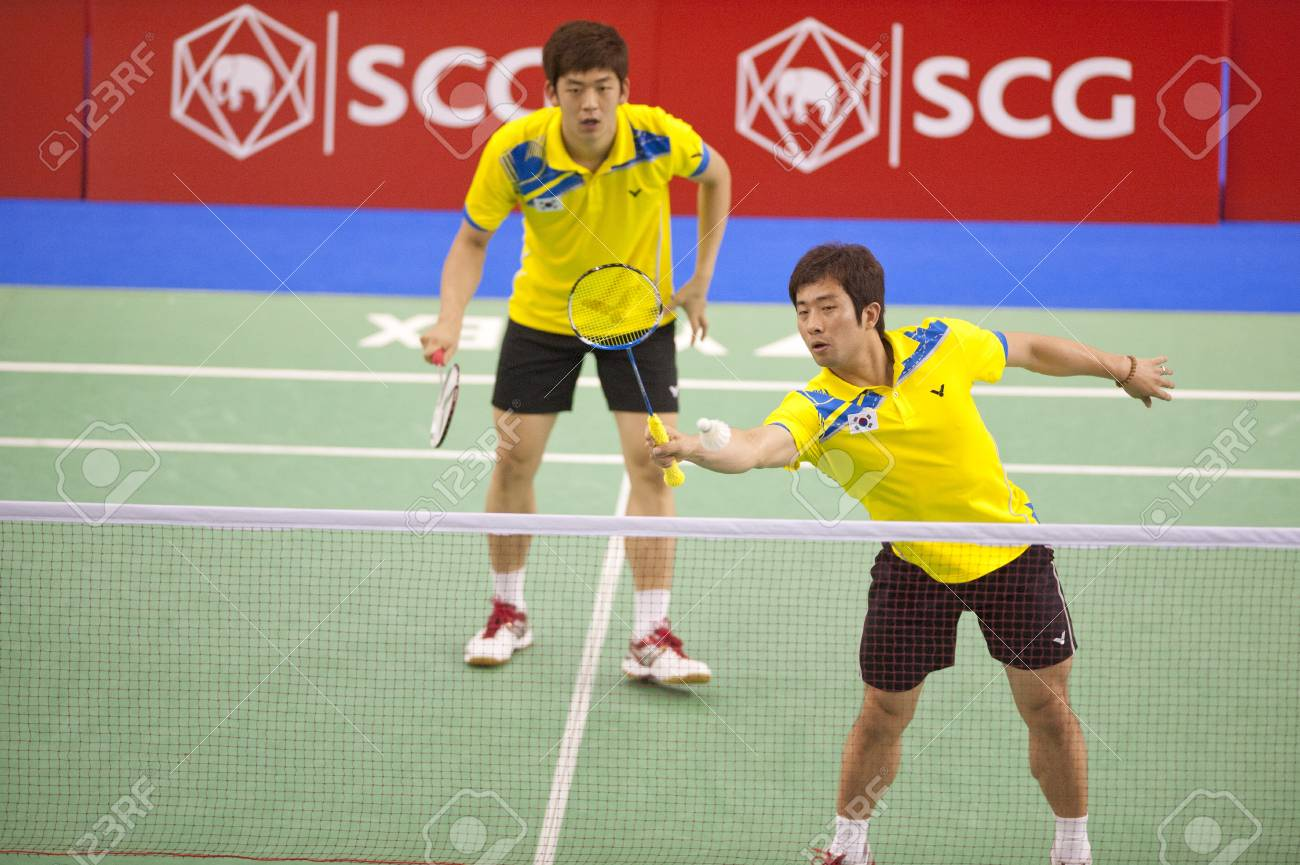 Badminton : SCG Thailand Open Grand Prix Gold 2011  Stock Photo - 9889821