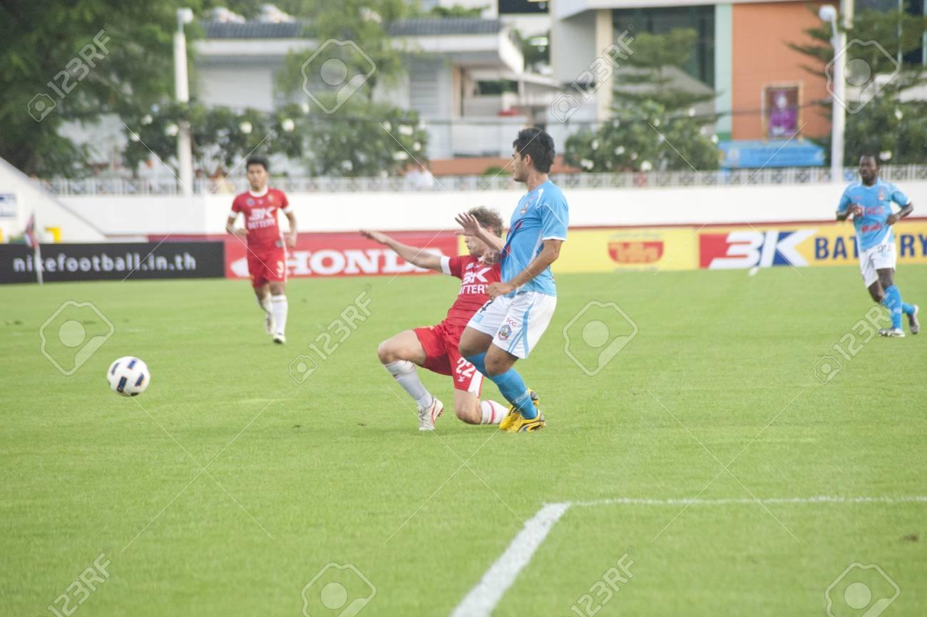 781485b1c BANGKOK THAILAND - AUGUST 13 : Thai Premier League (TPL) between BEC Tero Fc