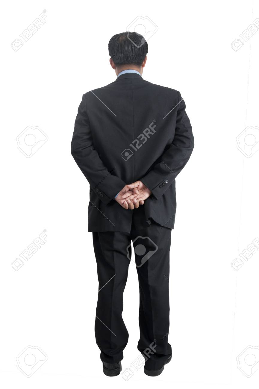 asia businessman standing over white Stock Photo - 10447629