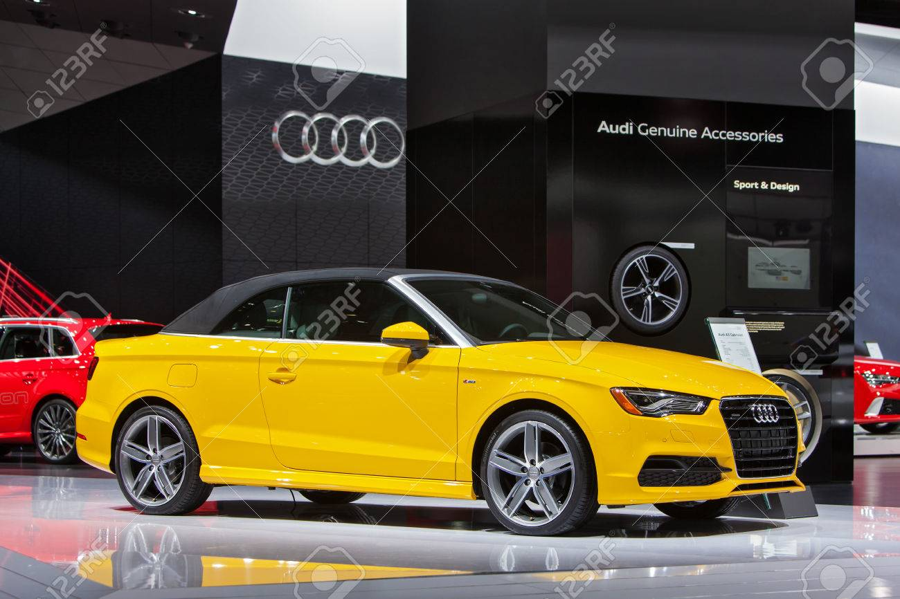 Detroit January 15 The Audi A3 Cabriolet On Display January Stock Photo Picture And Royalty Free Image Image 35733187