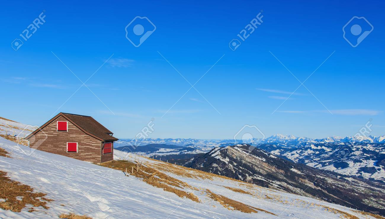 mt rigi switzerland 25 january 2016 view from the top of