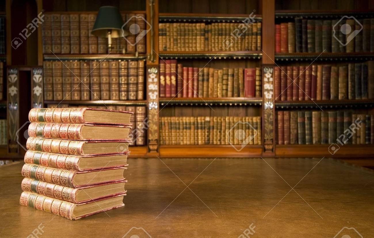 Old books in classic library series Stock Photo - 2670282