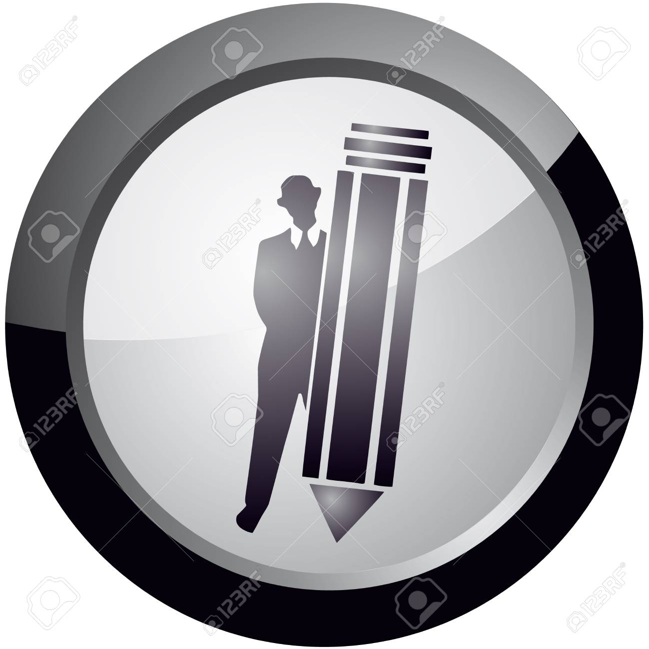 icon in the style of Take note, vector Stock Vector - 18512615