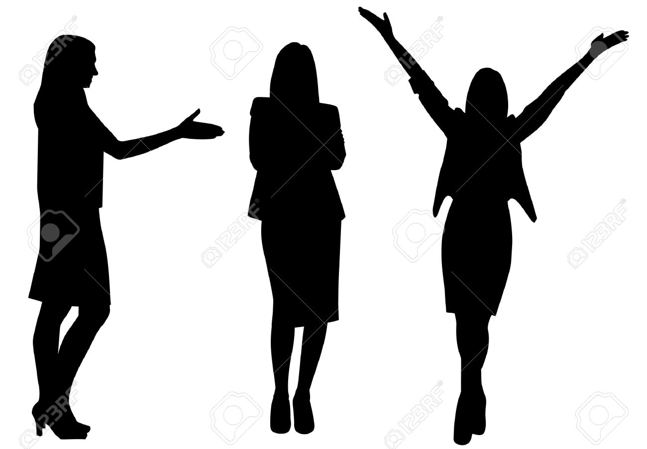 business woman silhouette vector illustration isolated royalty free rh 123rf com silhouette vectoriel gratuit silhouette vector sport