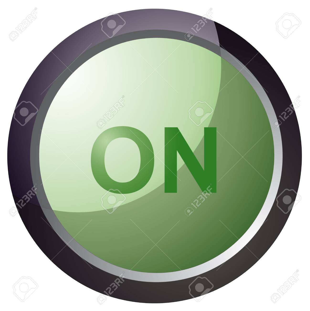 vector button on green color illustration Stock Vector - 18512614