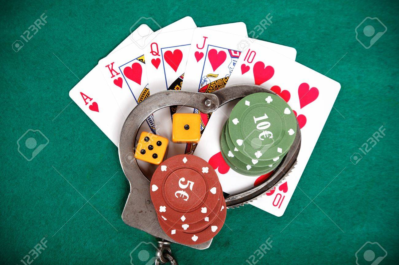 Illegal Gambling Punishable By Law Background Stock Photo Picture And Royalty Free Image Image 20244107