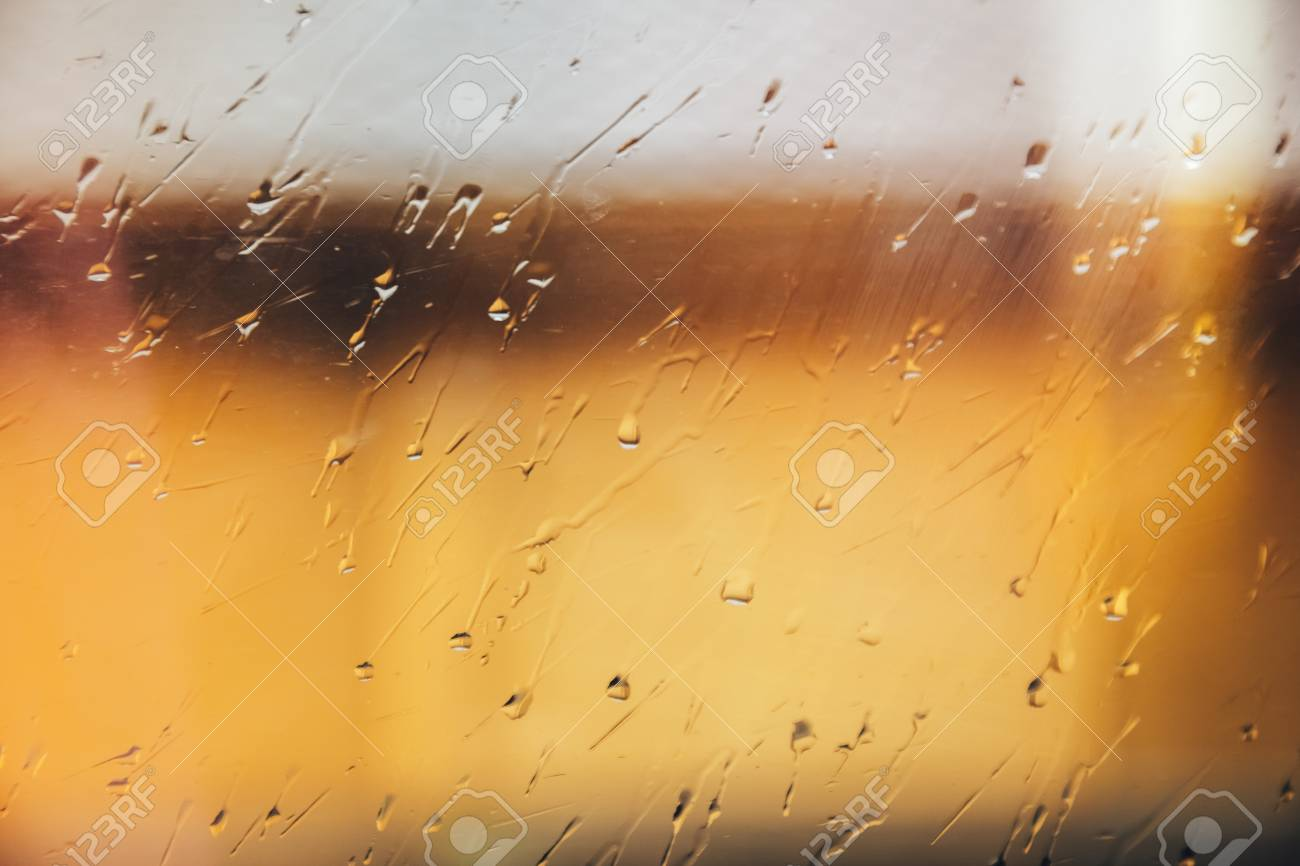 Rainy Days Rain Drops On Window Surface Stock Photo Picture And