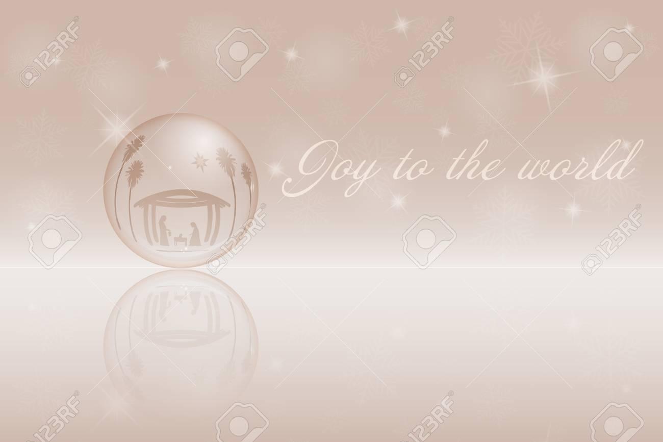 Weihnachtszeit. Weihnachtsschüssel Krippe Mit Mary, Joseph Und Baby ...