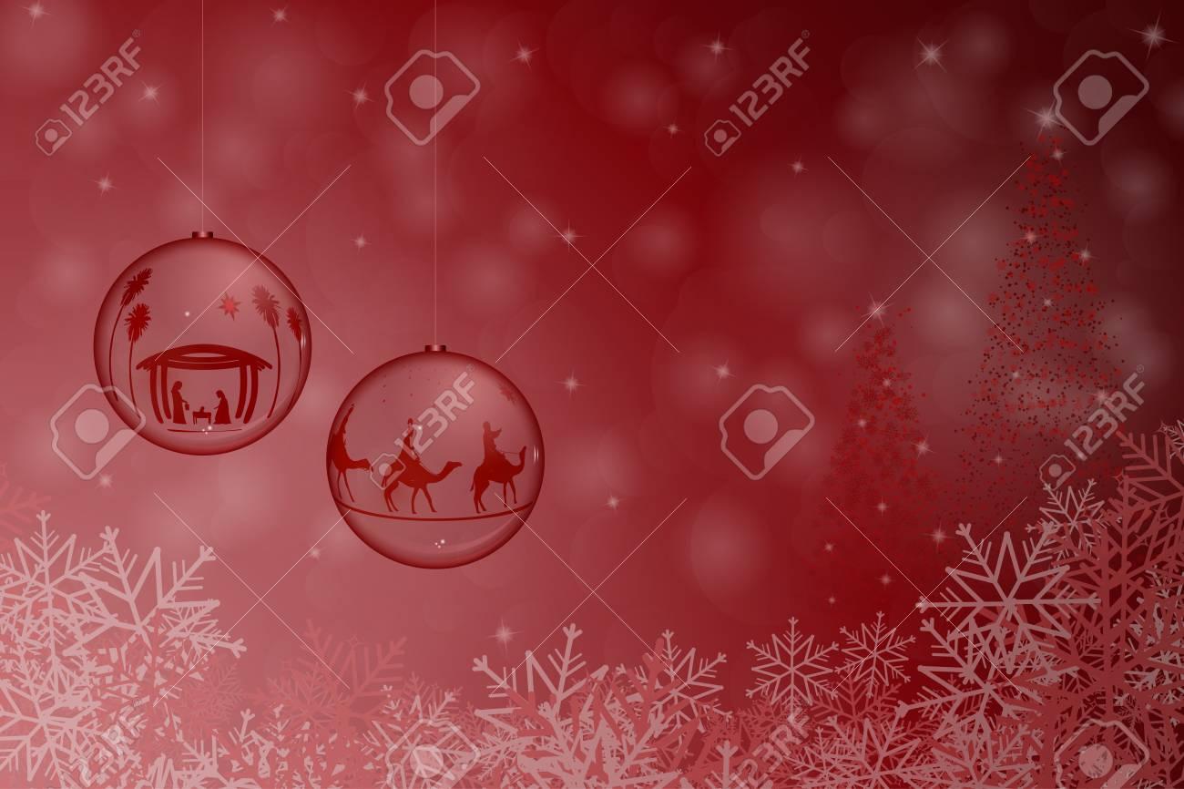 Weihnachtszeit. Weihnachtsschüssel Mit Den Drei Königen, Die Dem ...