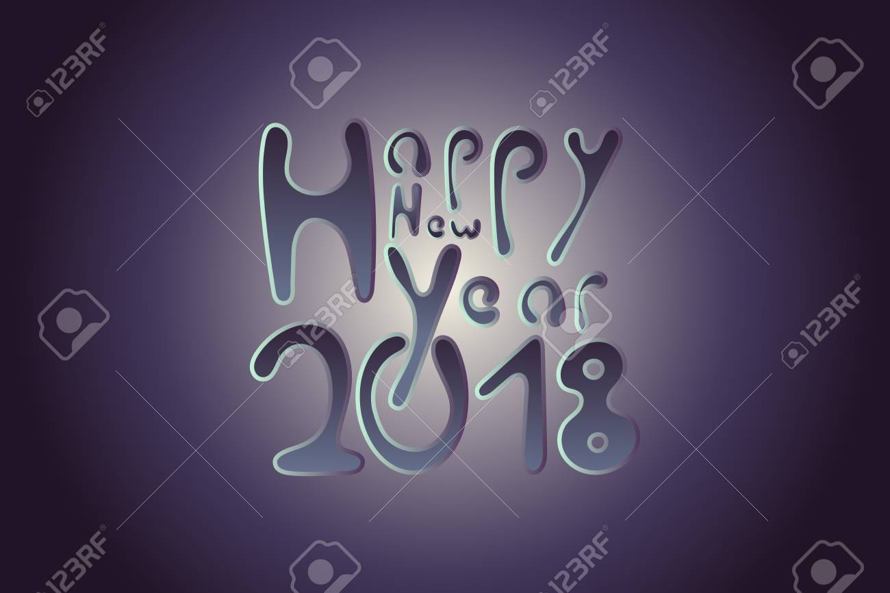 happy new year 2018 banner stock vector 91899427